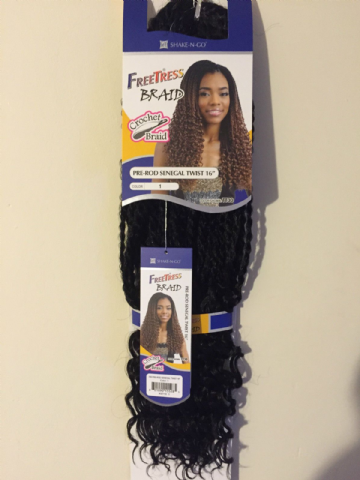 FREETRESS CROCHET BRAID PRE-ROD SENEGAL TWIST 16""